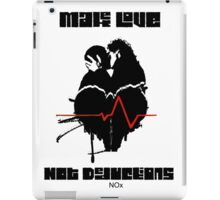 Make Love Not Deductions iPad Case/Skin