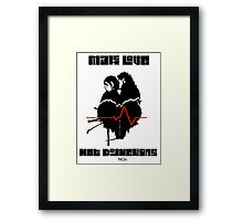 Make Love Not Deductions Framed Print