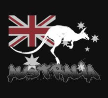 Australian Flag and Kangaroo by Craig Stronner