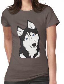 Siberian Husky  Womens Fitted T-Shirt