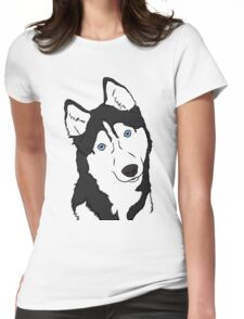 Siberian Husky  Womens Fitted T-Shirt