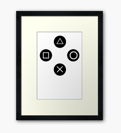 Video game T-Shirt funny t shirt ps3 cool tshirt gamer t shirt xbox ps4 nintendo (also available on crewneck sweatshirts and hoodies) SM-5XL Framed Print