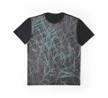 Blue Grass on Construction Fence Graphic T-Shirt