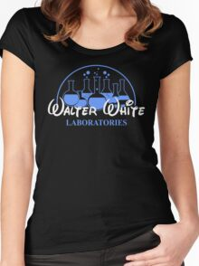 Walter White Laboratories T Shirt Breaking Pinkman Bad AMC Heisenberg Mr White Women's Fitted Scoop T-Shirt