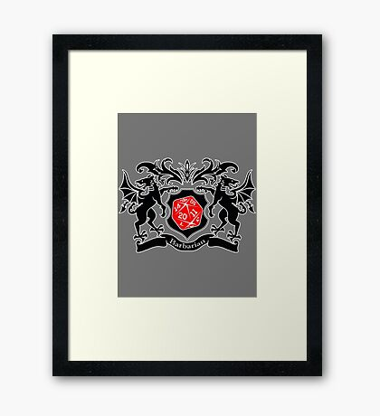 Coat of Arms - Barbarian Framed Print