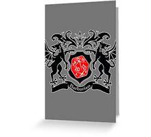 Coat of Arms - Barbarian Greeting Card