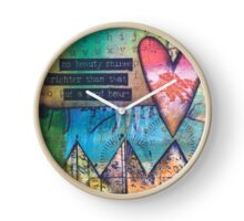 """Abstract & Artsy - Collection by forty-nine """"Good Heart"""" Clock"""