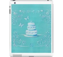 Blue and white wedding cake iPad Case/Skin