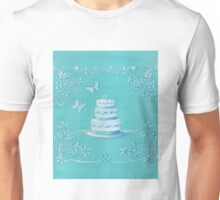 Blue and white wedding cake Unisex T-Shirt