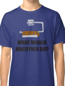WHAT WOULD MACGYVER DO TSHIRT Funny 80s TV Show TEE Dean Richard Anderson Cool Classic T-Shirt