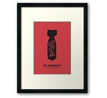 Dr. Strangelove minimalist movie poster Framed Print