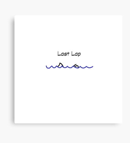 Swimmer - Last Lap Canvas Print
