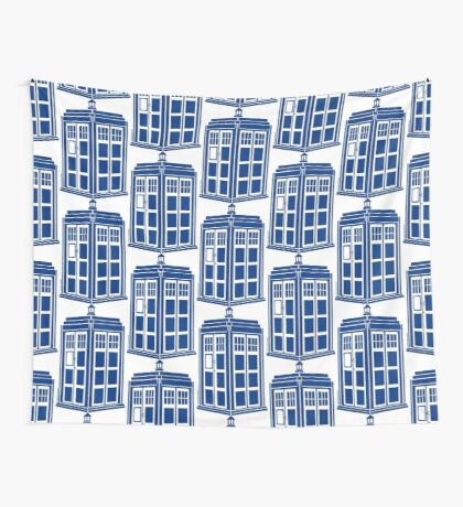 Colour Me Tardis Wall Tapestry