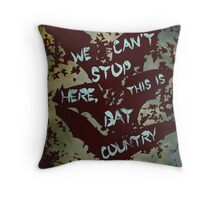 Fear and Loathing in Las Vegas movie poster no 3 Throw Pillow