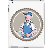 Bricklayer Mason Plasterer Rosette Cartoon iPad Case/Skin
