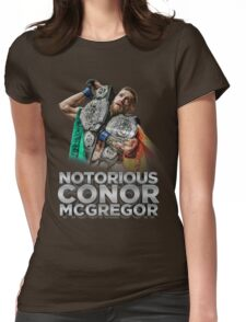 McGregor - Double Champ - Silver Womens Fitted T-Shirt