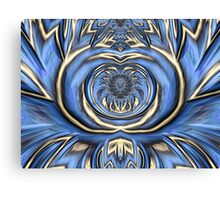 Mandala in Blue and Gold Canvas Print