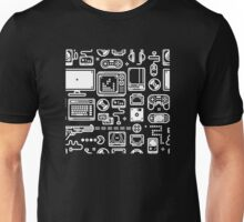 Retro Gamer Video Game Consoles, PC's, Controllers, Joysticks and Gamepads Unisex T-Shirt
