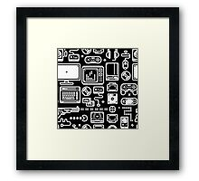 Retro Gamer Video Game Consoles, PC's, Controllers, Joysticks and Gamepads Framed Print