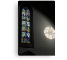 Lights and Colors - Stained Glass Church Window Canvas Print