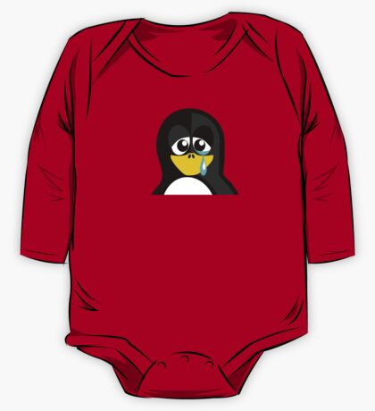 Crying Penguin  One Piece - Long Sleeve
