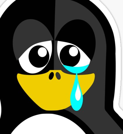 Crying Penguin  Sticker