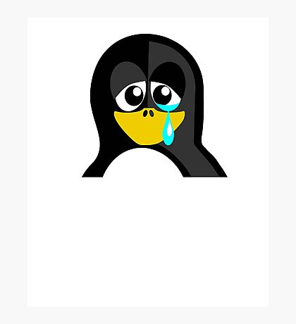 Crying Penguin  Photographic Print