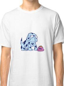Spotted Dog Food Bowl Cartoon Classic T-Shirt