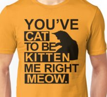YOU'VE CAT TO BE KITTEN ME RIGHT MEOW TSHIRT Funny Animal Lovers TEE Cats Feline Unisex T-Shirt
