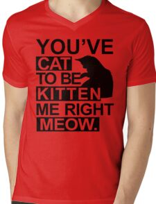 YOU'VE CAT TO BE KITTEN ME RIGHT MEOW TSHIRT Funny Animal Lovers TEE Cats Feline Mens V-Neck T-Shirt