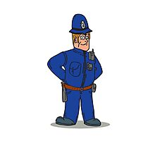 London Policeman Police Officer Cartoon Photographic Print