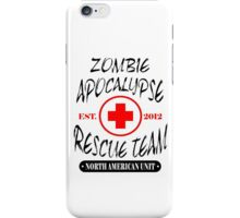 Zombie Apocalypse Rescue Team T-Shirt The Walking Zombies TEE Funny Dead est iPhone Case/Skin