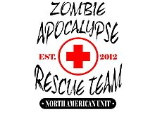 Zombie Apocalypse Rescue Team T-Shirt The Walking Zombies TEE Funny Dead est Photographic Print