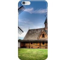 Lytham Windmill and Lifeboat Station at Dusk iPhone Case/Skin