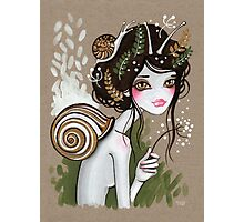 Snail Girl Photographic Print
