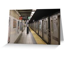 Subway 86th St Greeting Card