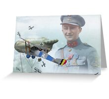 Sous Lieutenant Willy Coppens Greeting Card