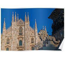 Italy. Milan. Duomo. Poster