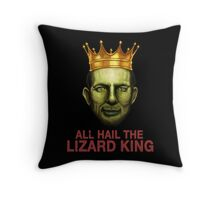 All Hail The Lizard King Throw Pillow
