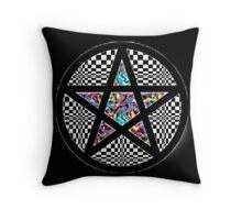 Pentacle Of Trippy Throw Pillow