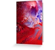 Space Storm Greeting Card