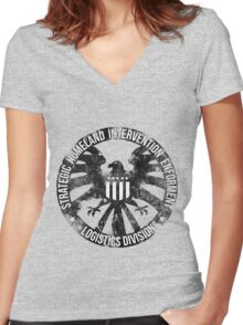 Vintage Stlye S.H.I.E.L.D  Women's Fitted V-Neck T-Shirt