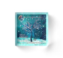 Invincibility Affirming Winter Landscape Acrylic Block