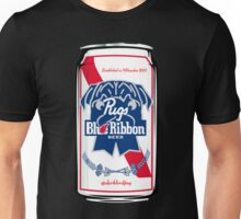 Pugs Blue Ribbon Unisex T-Shirt