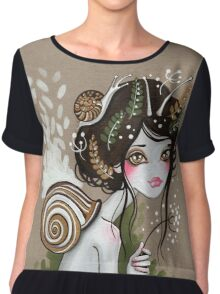 Snail Girl Chiffon Top