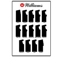 Williams Arcade Cabinets Photographic Print