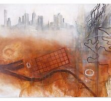 Land Memory - Melbourne by Katie Roberts Art