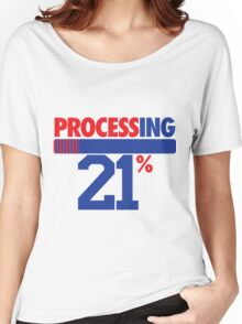 Processing 21% (Big Number) Women's Relaxed Fit T-Shirt