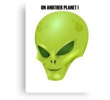 Alien Head Canvas Print
