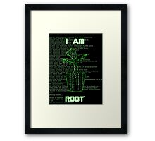 I AM ROOT (Matrix version) Framed Print